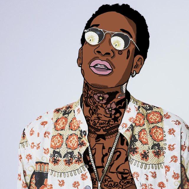 """Lucid Daydreams on Twitter: """"Cartoon Edit of Wiz Khalifa ..."""