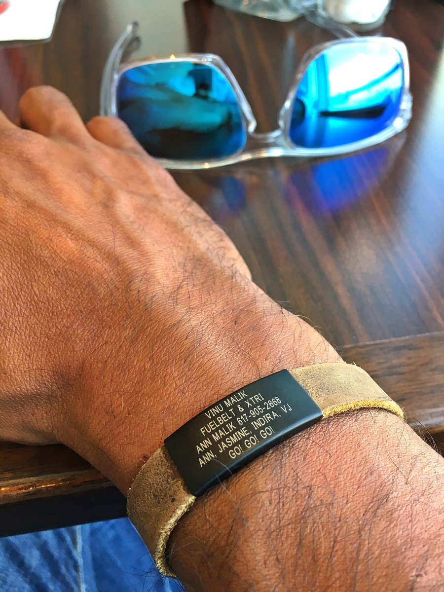 Vinu Malik On Twitter Crushing My New Leather Road Id Bracelet I Love It Get One For Everyone You Care About Thanks Roadid Pjrabice