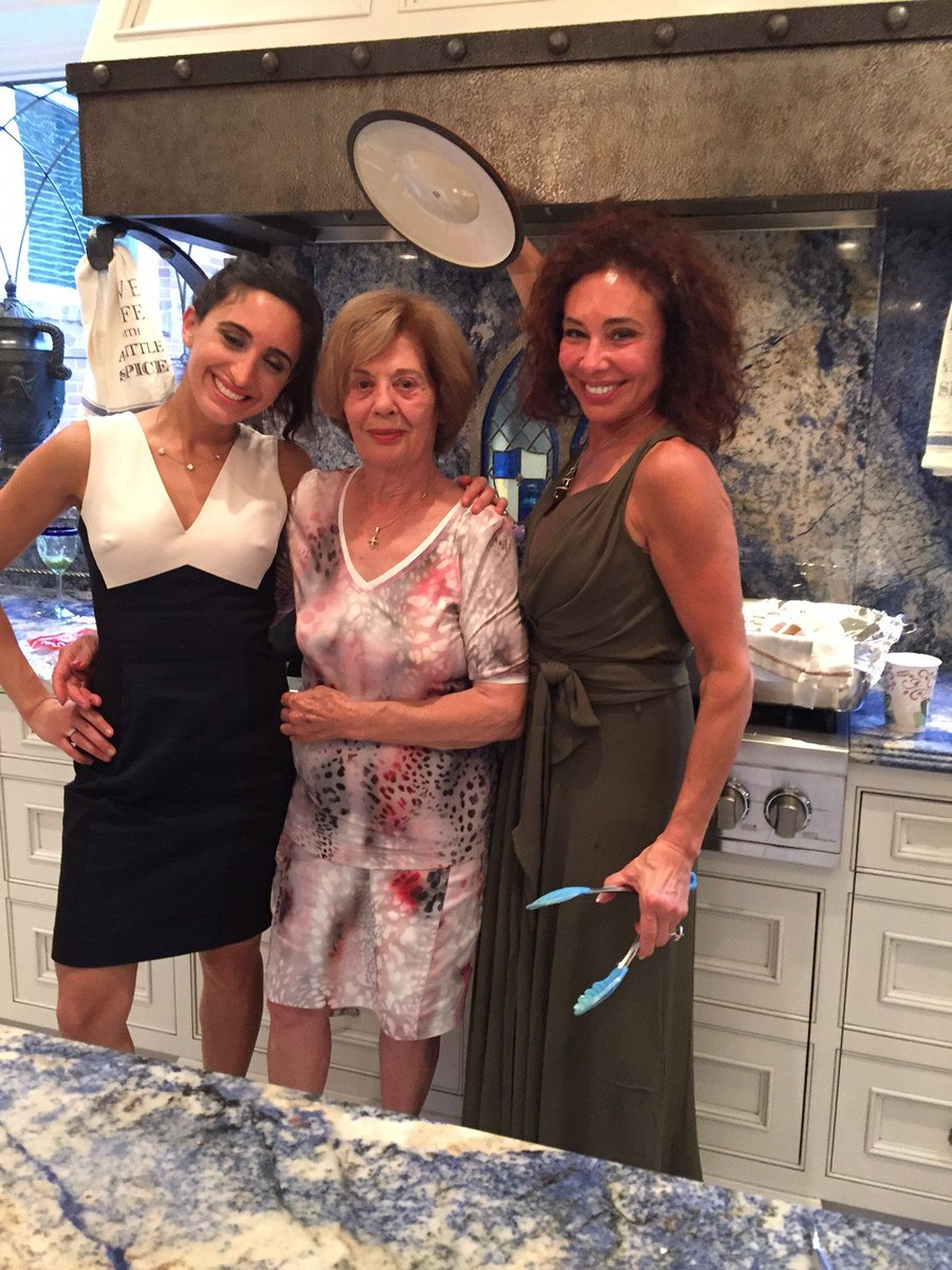 3 generations having fun cooking in my kitchen mom esther and