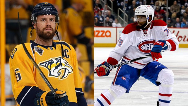 c6bef761fc6 Canadiens acquire defenseman Shea Weber from the Nashville Predators in  return for defenseman P.K. Subban.pic.twitter.com/jlFvVNyjHG