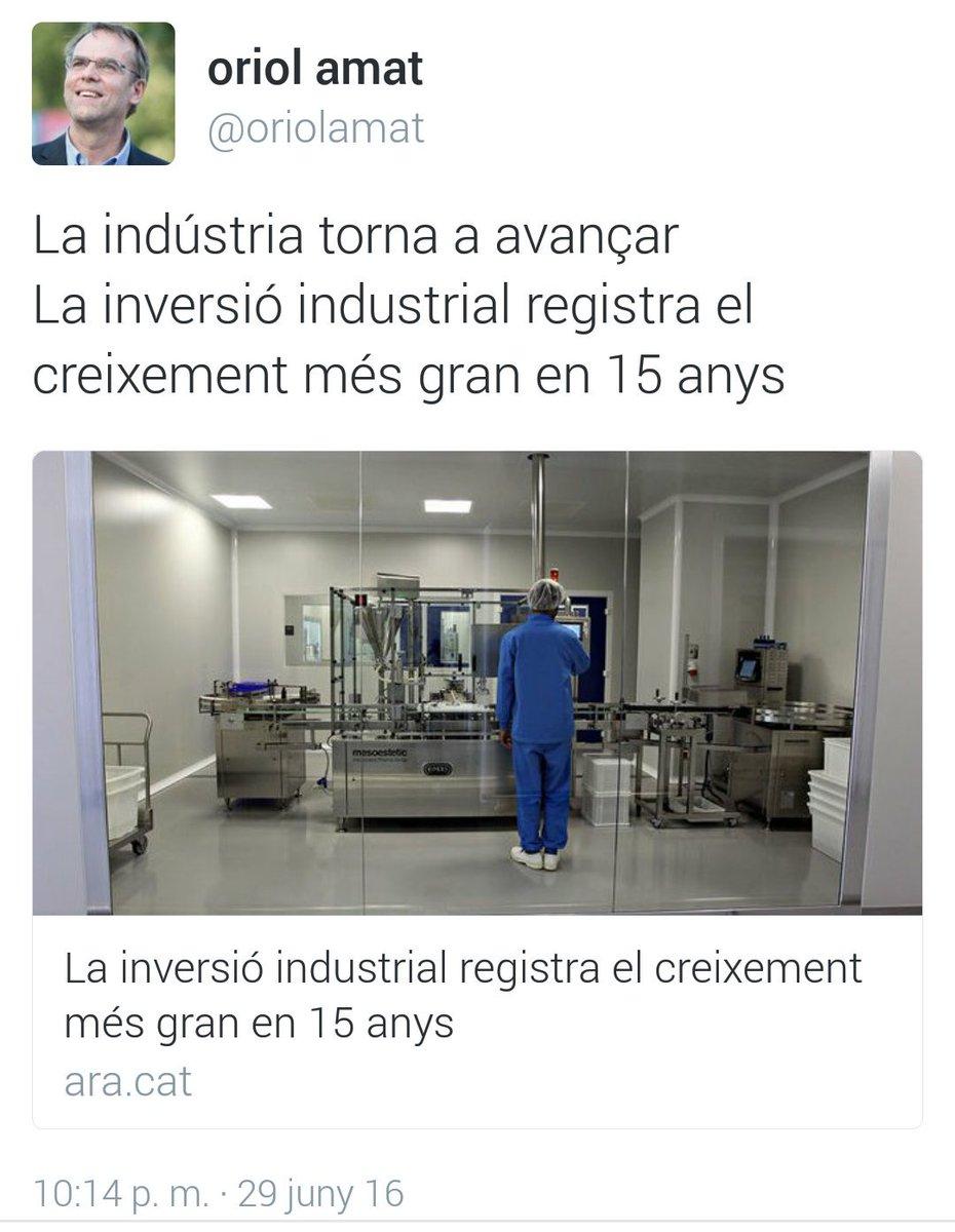 La Indústria torna a avançar. La inversió industrial registre el creixement més gran en 15 anys