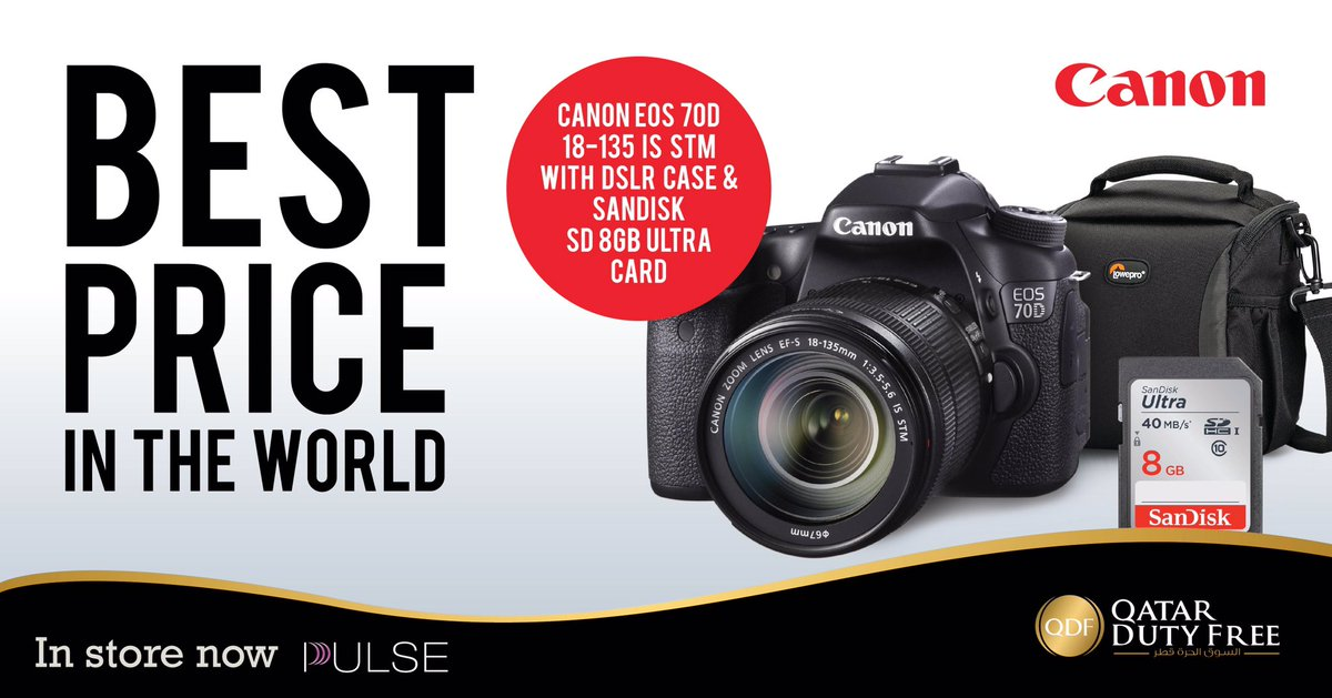Qatar Duty Free On Twitter Your Canon Eos 70d Dslr Is Now Available In Pulse Store Offering World S Best Price Hiaqatar Qatardutyfree
