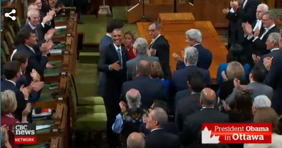 Ovation. #Obama seems a bit surprised by all this love coming from a legislative body. https://t.co/CENahqzvbC
