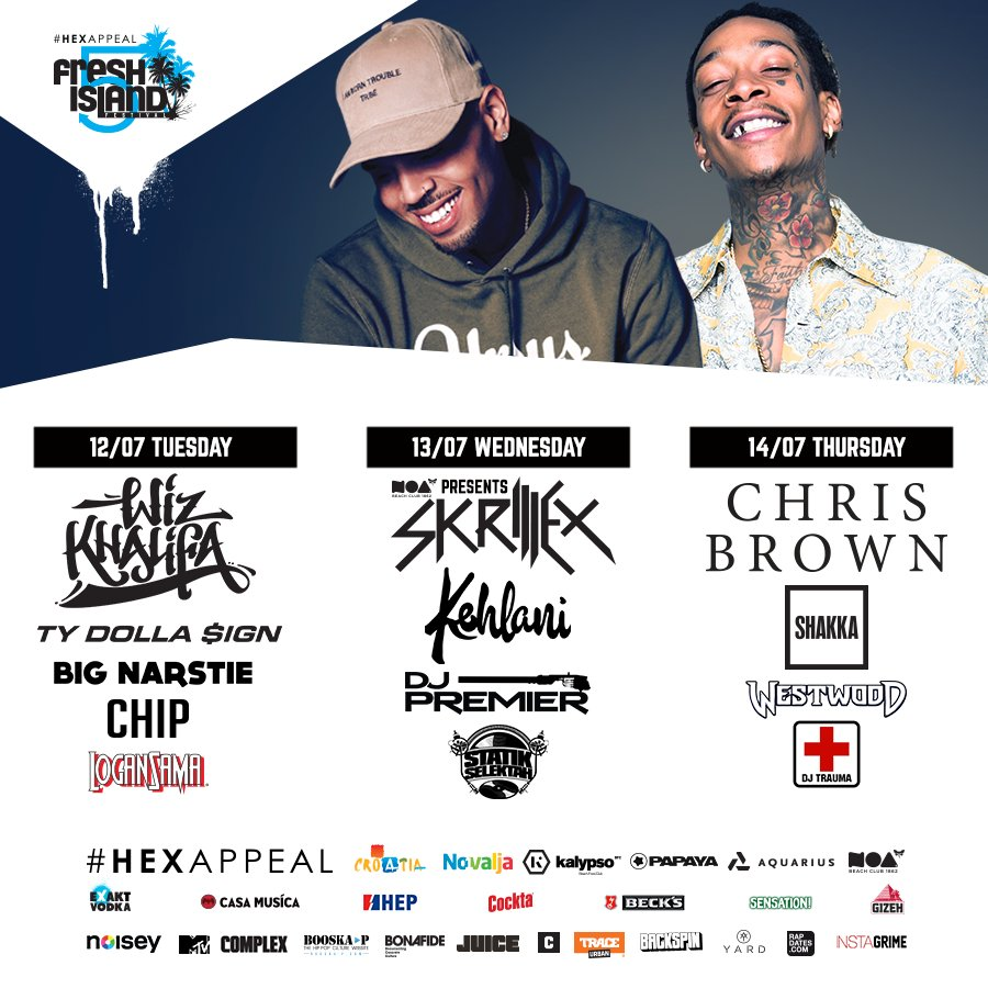 Still amazed how nicely we pulled this one off! July 12 - 14. All info ---> @freshislandfest #hexappeal #croatia https://t.co/Bx0RuvsoC1