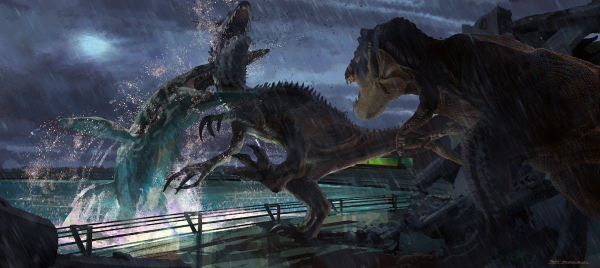 Jurassic Collectables On Twitter Hmm JurassicWorld Concept Art Features A Papo Running Trex Irex Probably Allosaur PapoFame JurassicOutpost