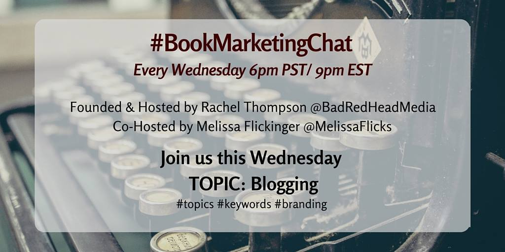 NOW: #BookMarketingChat on #blogging! + #giveaway via @indiebookpromos Enter https://t.co/niuQ5FsC13 #Twitter https://t.co/Wl53hnx8CN