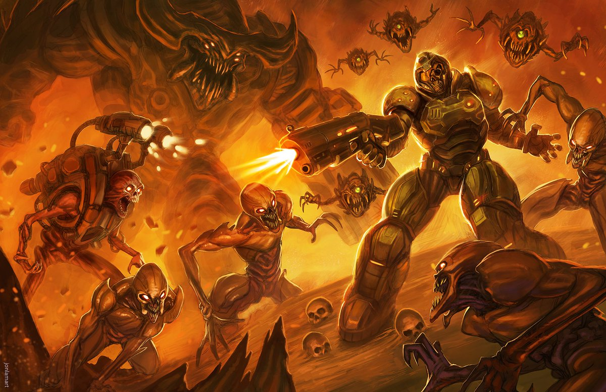 Jonlamart On Twitter Doom Full Art Piece Here Bethesdastudios