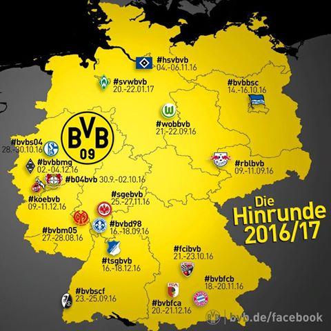 Bundesliga Calendario.Desmo Futbol On Twitter Calendario Del Borussia Dortmund