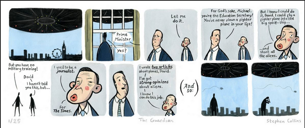 Now Gove has declared his intention to stand for the Tory leadership we can repub this ace cartoon. https://t.co/x9QK34zics