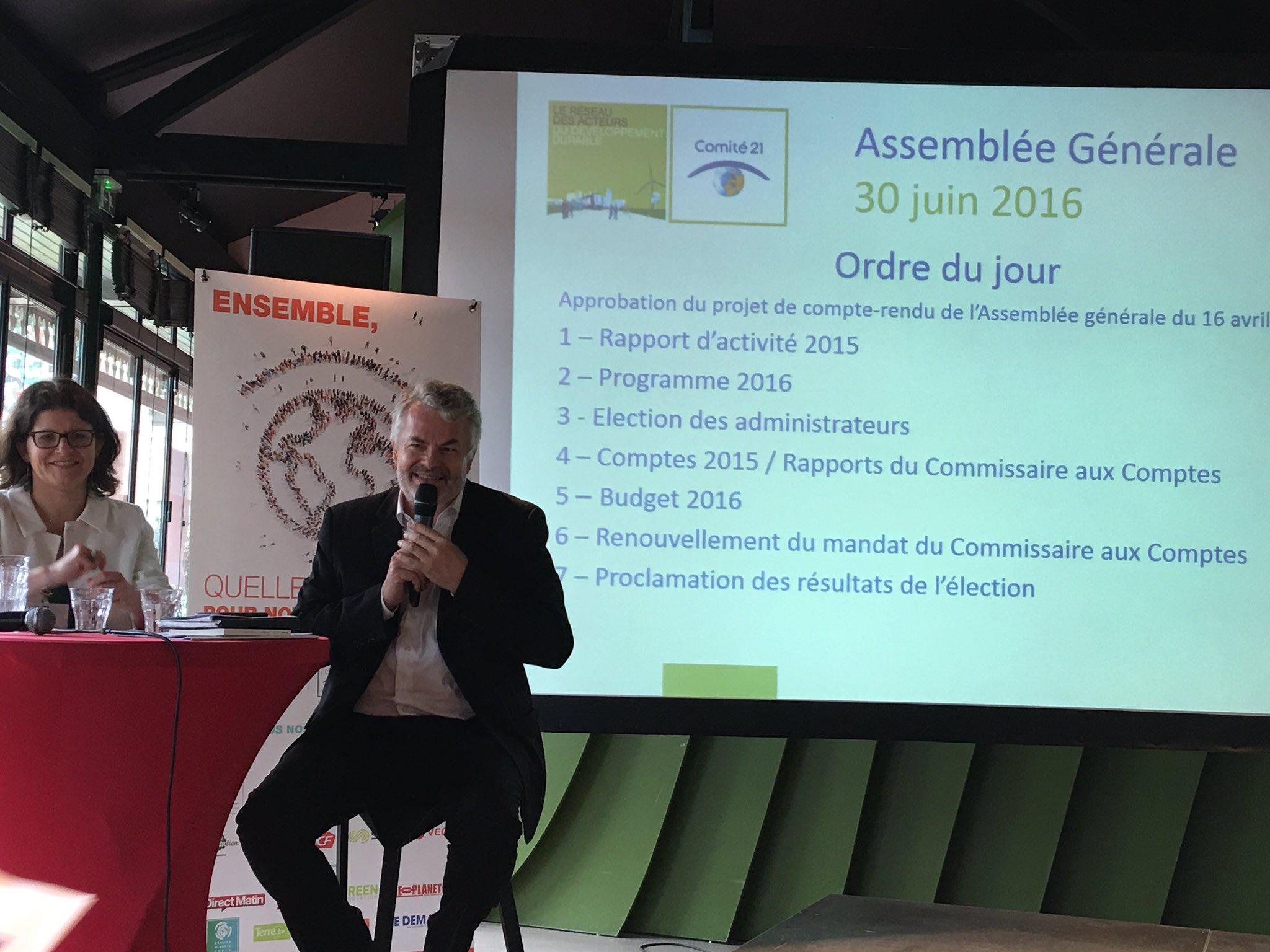 Vision & fête des 21 ans du @Comite21 Dernière AG du président @GillesBerhault Ouverture d'un beau moment de partage https://t.co/a8RRxF0DMr