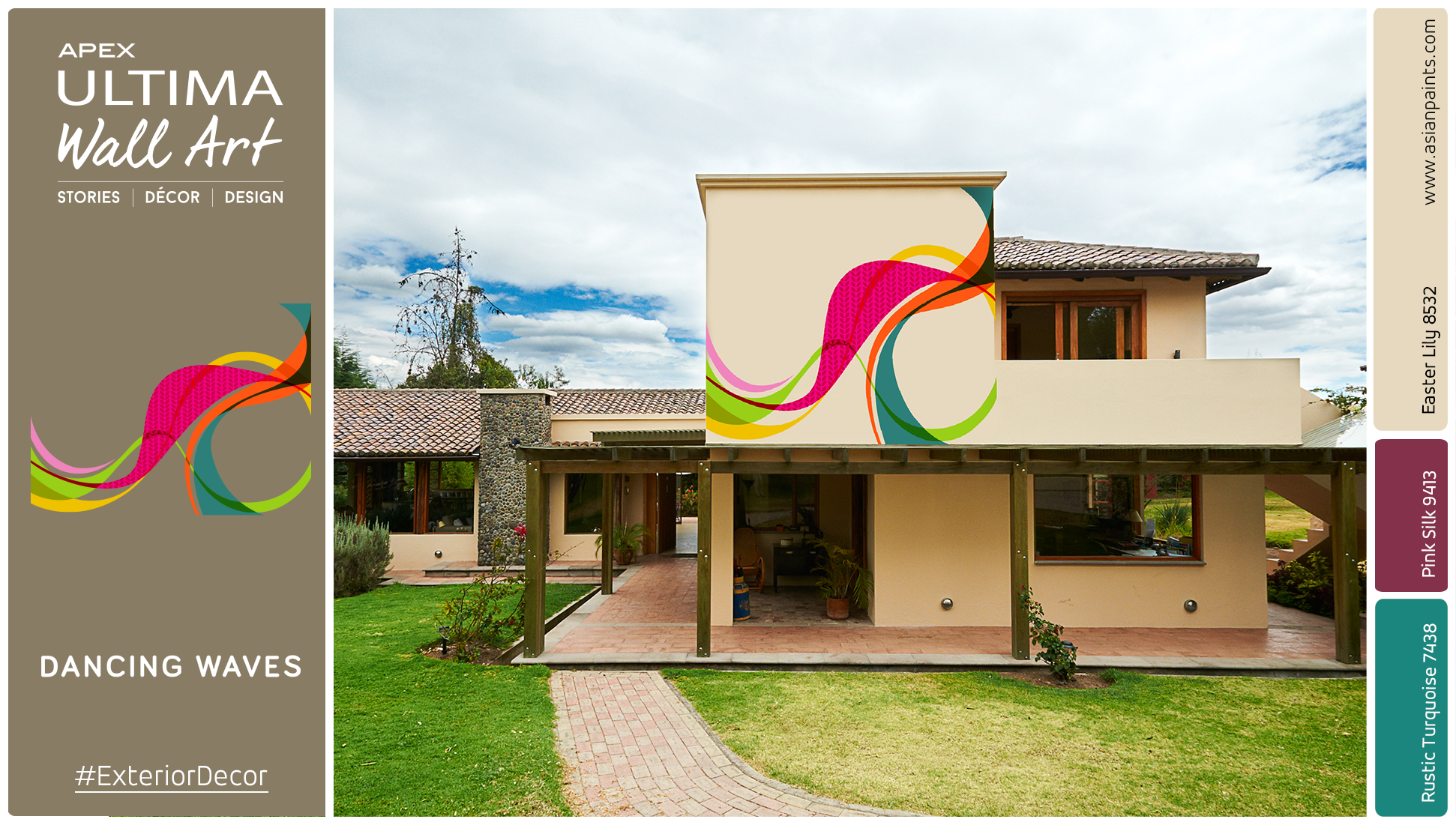 Asian paints on twitter enhance the exterior of your home with the 39 dancing waves 39 design from - Asian paints exterior colours pict ...