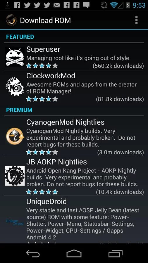 Universal androot для android