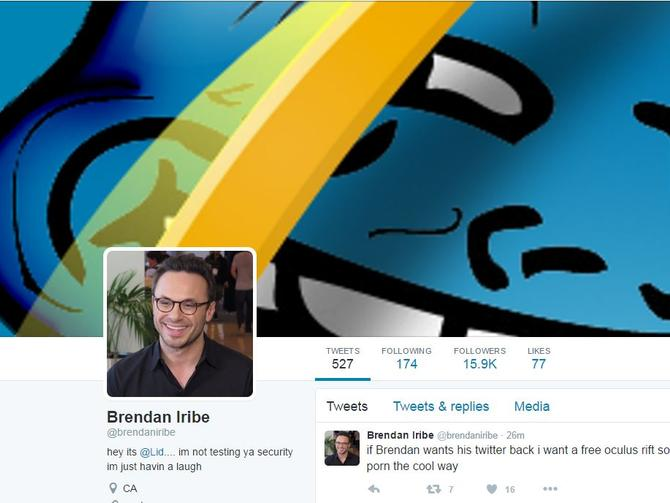 Oculus CEO's Twitter gets hacked