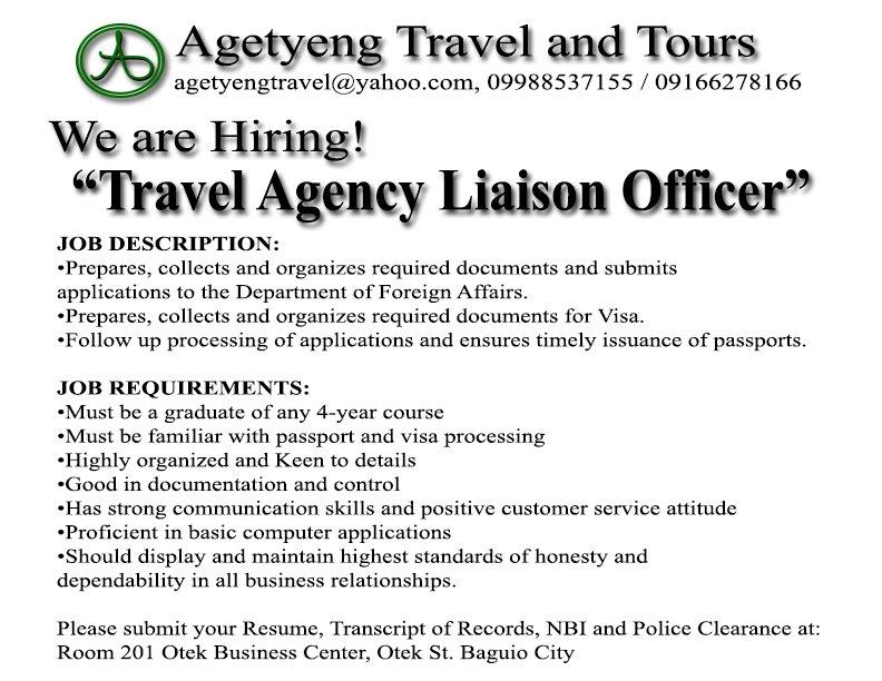 Agetyeng Travel agetyengtravel – Travel Agent Job Description