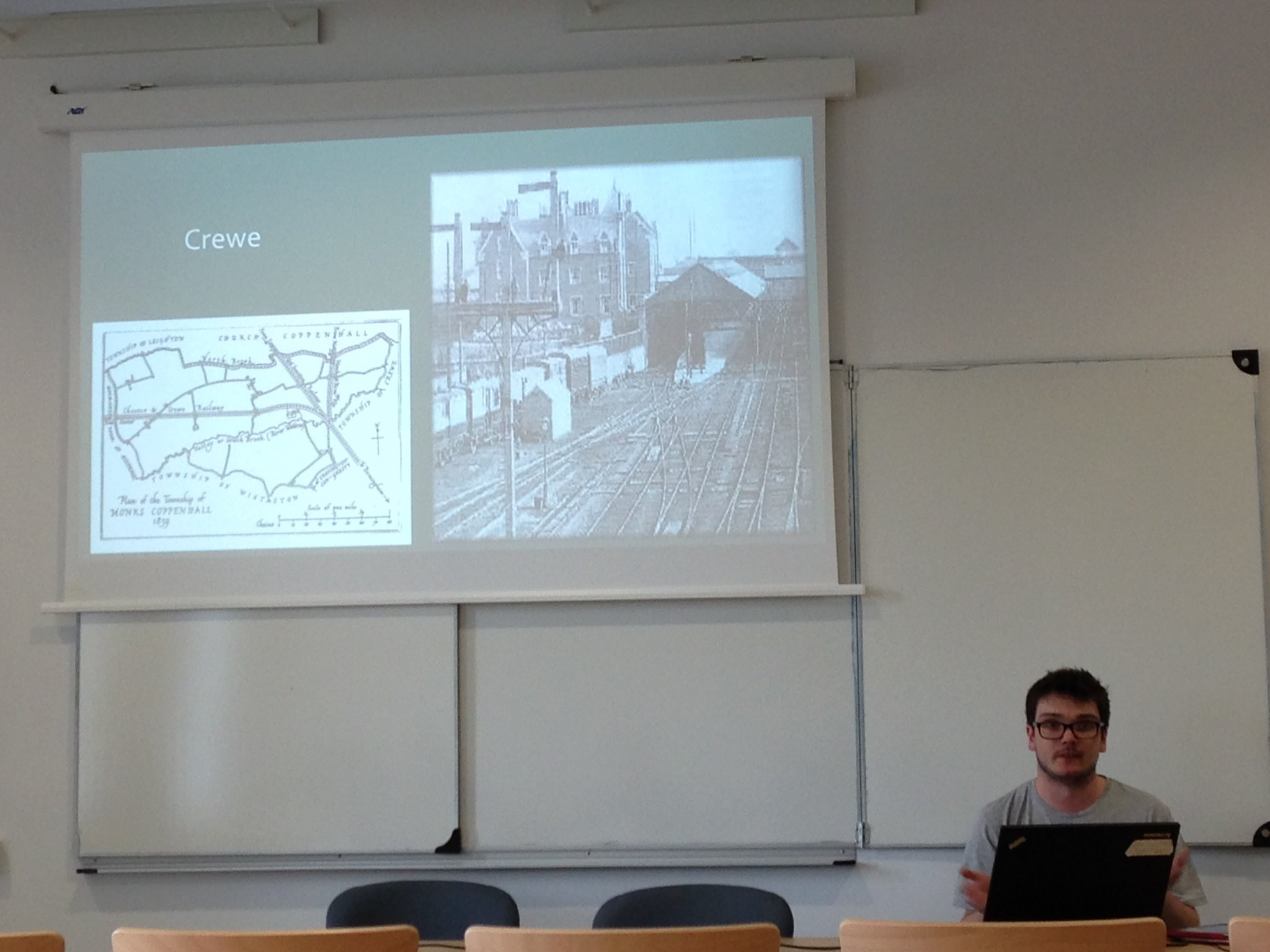 @LiamJordanDyer presenting his work on the middle class employee & the development of sport in CREWE at #ISHPES2016 https://t.co/gAPsTgDQMP