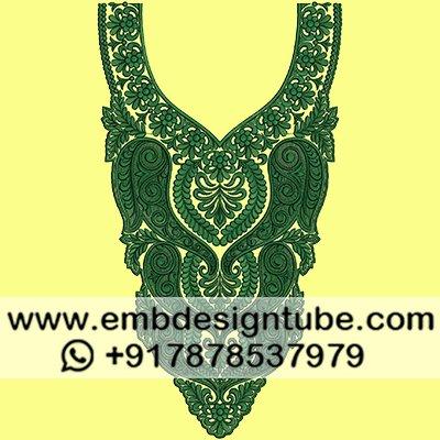 Embdesigntube Com On Twitter Machine Embroidery Neck Design