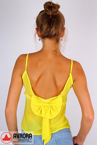 как сшить блузку с бантом на спине