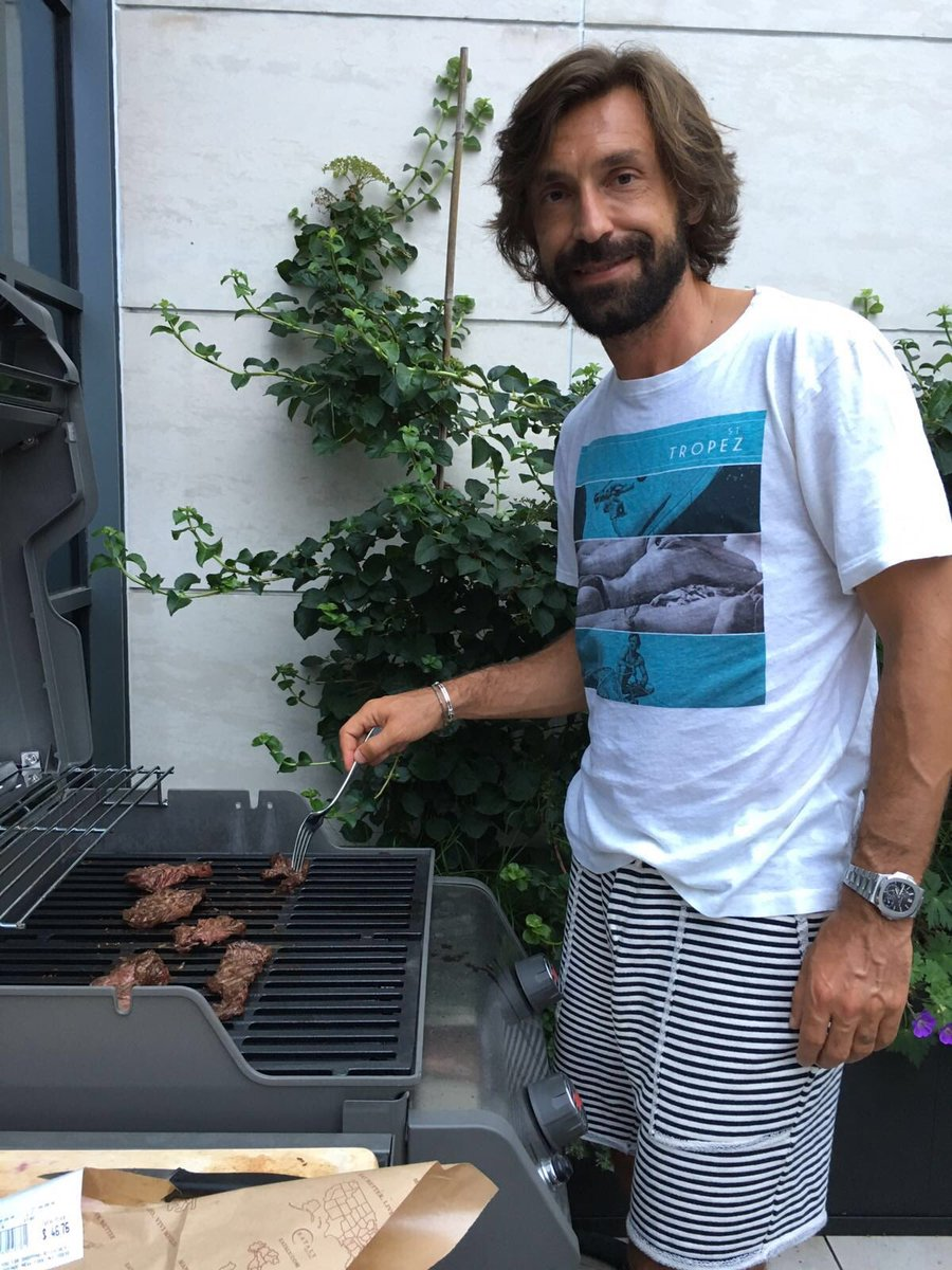 "Andrea Pirlo on Twitter ""Family s BBQ Like a real American"