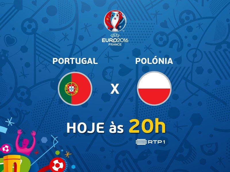 É hoje! Quanto vai ficar o jogo #POLPOR? #EURO2016 #POR https://t.co/TE3oAGCRcJ