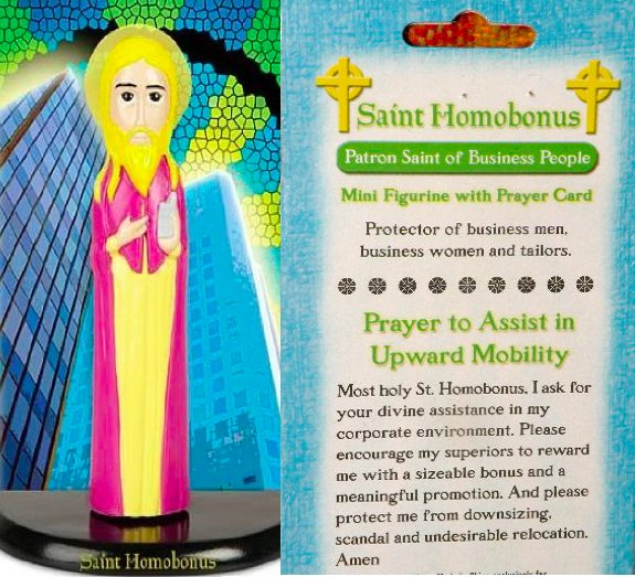 Saint homobonus prayer card
