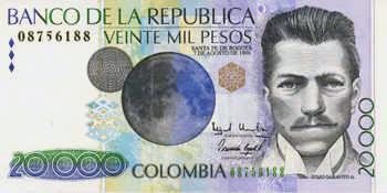 Colombia, donde el billete de 20 mil se lo quitamos a un científico y se lo queda un ex presidente...y así con todo. https://t.co/pj735inc8K