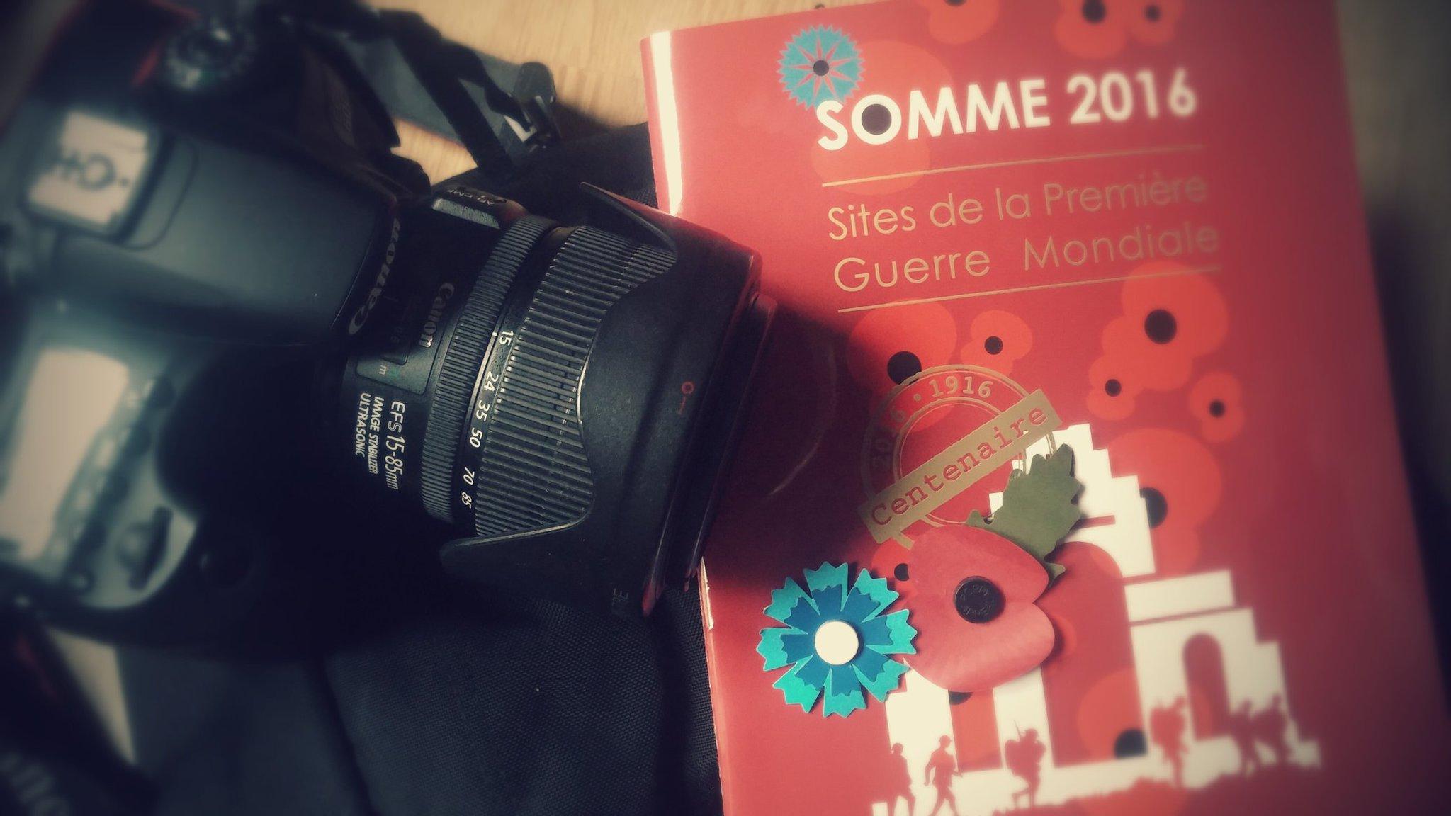 #Somme100  #1GM Le sac est prêt pour demain ! Je vous ferai vivre la cérémonie à Thiepval en direct pour @france24. https://t.co/ThY8edDhJv