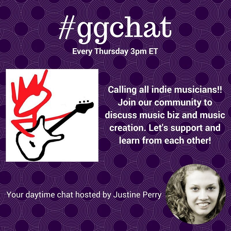 #Musicians: Join the #ggchat today at 3pm ET with our host @justine_perry. https://t.co/BZZPfaP2Vs