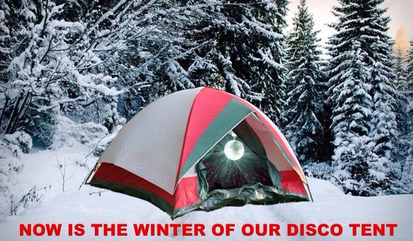 """Victoria Frater on Twitter: """"""""Now is the winter of our disco tent""""  #RuinShakespeare @jill_treece ?… """""""