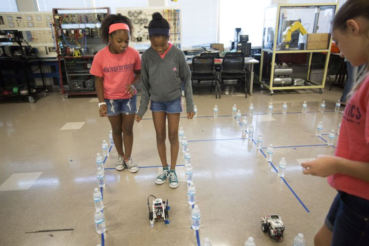 A Hillsborough all-girls summer camp — with robots