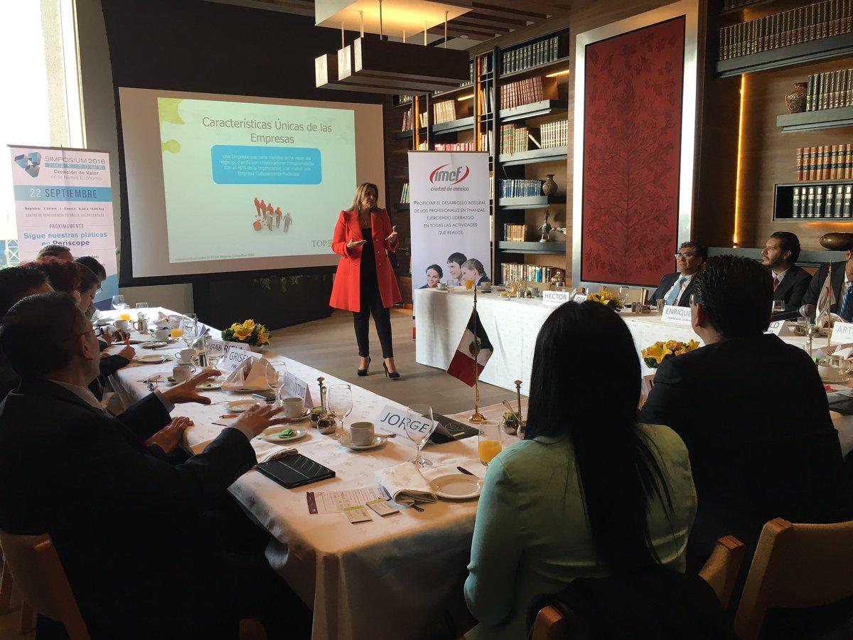 """Hoy Desayuno de CFO """"Beneficios de evaluar tu cultura y clima organizacional"""" con Laila Chartuni CEO TopCompanies https://t.co/rE1gaB5hNK"""