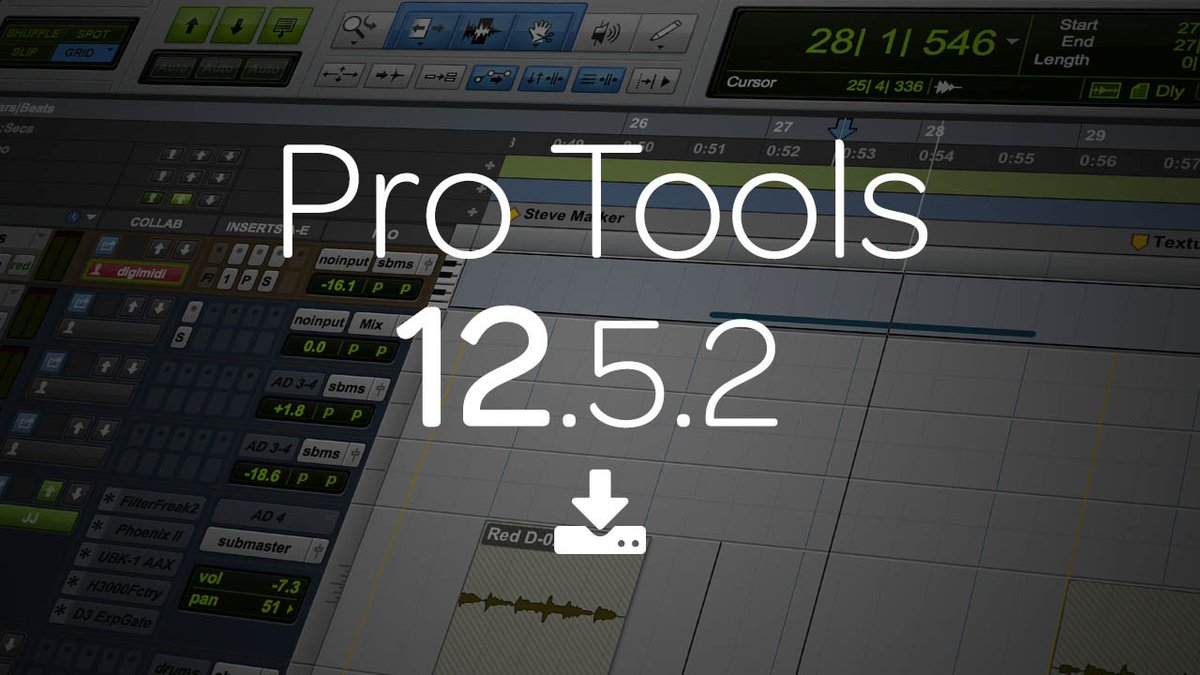 Avid Pro Tools On Twitter Now Availablepro Tools 1252 With