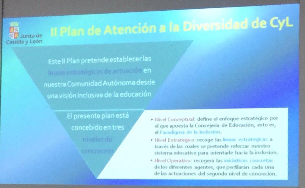 Presentación del II Plan de Atención a la Diversidad de Castilla y León. Fco José Fdez Torres. #palenciainclusiva https://t.co/j6bYfStpxT