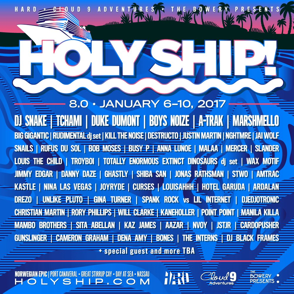 We can't wait to share the Holy Ship! 2017 experience with you!