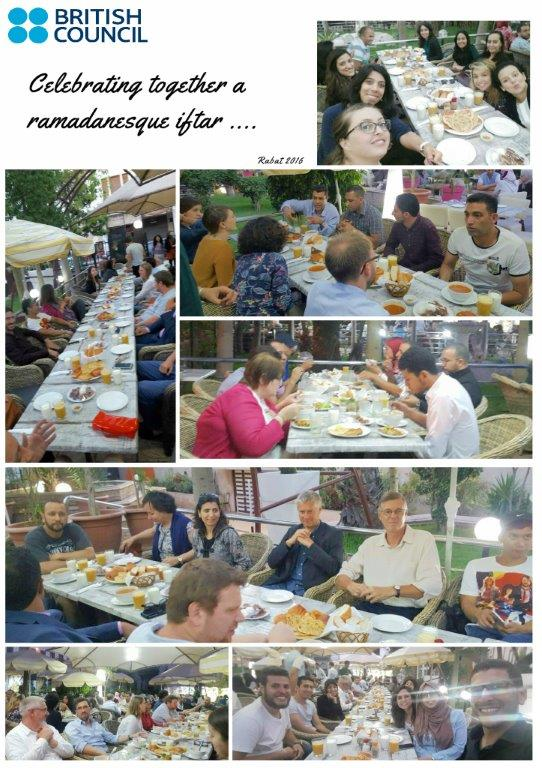 British Council Rabat colleagues celebrating together #Ramadanesque #iftar . 3wacher mabrouka!<br>http://pic.twitter.com/gHghlj5qWZ