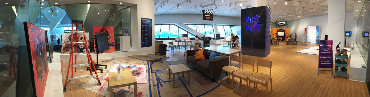 One of the most exciting connected in-gallery art-making spaces I've seen in a while... @DenverArtMuseum 😍🎨 #artsed