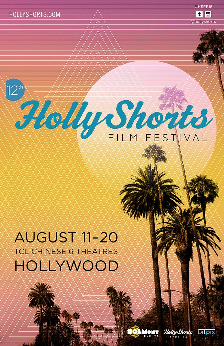Official Year 12 @HollyShorts poster! August 11-20th  All Access Badges via #bitpix go on sale 7/5 at 9:00am pst. https://t.co/Qr9QSyO2Xc