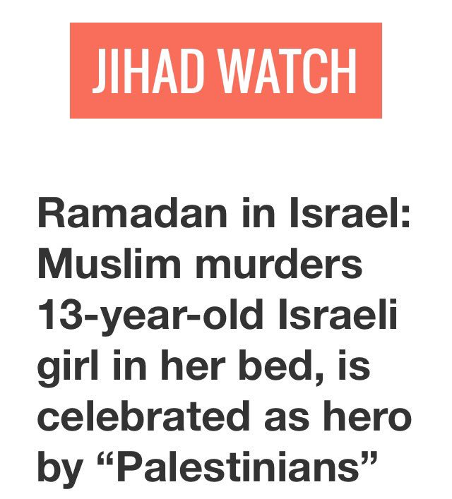 #Ramadan In #Israel   #American Girl Stabbed To Death While Asleep  #Palestinians Celebrate  https://t.co/RUURPeEg2q