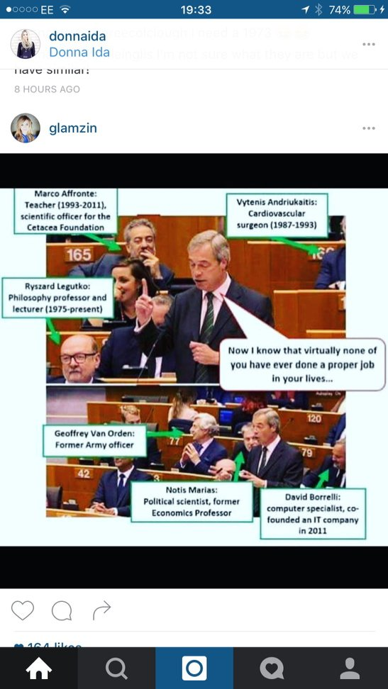Just in case anyone missed this. Could it be that Nigel himself is the ONLY unemployable MEP ? https://t.co/H8QMvXERn5