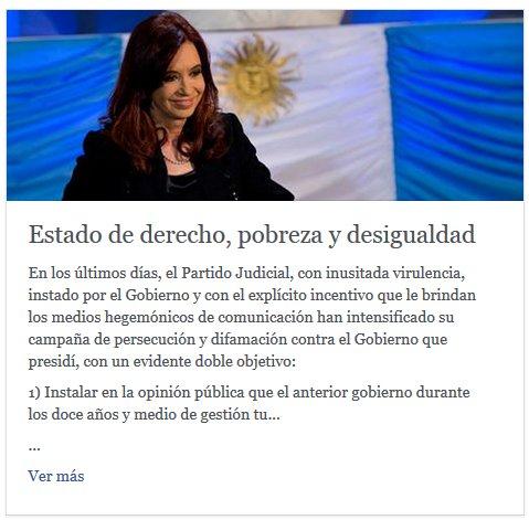Thumbnail for CFK sobre los allanamientos en Santa Cruz