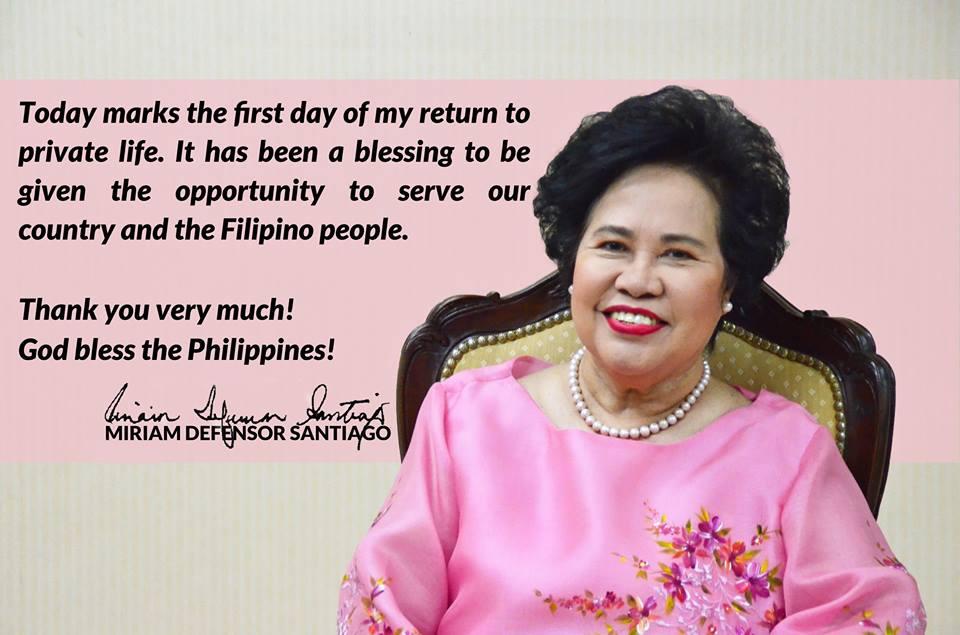 Dating Senadora Miriam Santiago, pumanaw na | News | GMA News Online