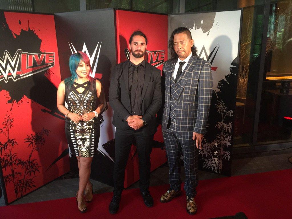 WWE日本公演レッドカーペット。さあきましたよ。 https://t.co/2vvqBsusyS