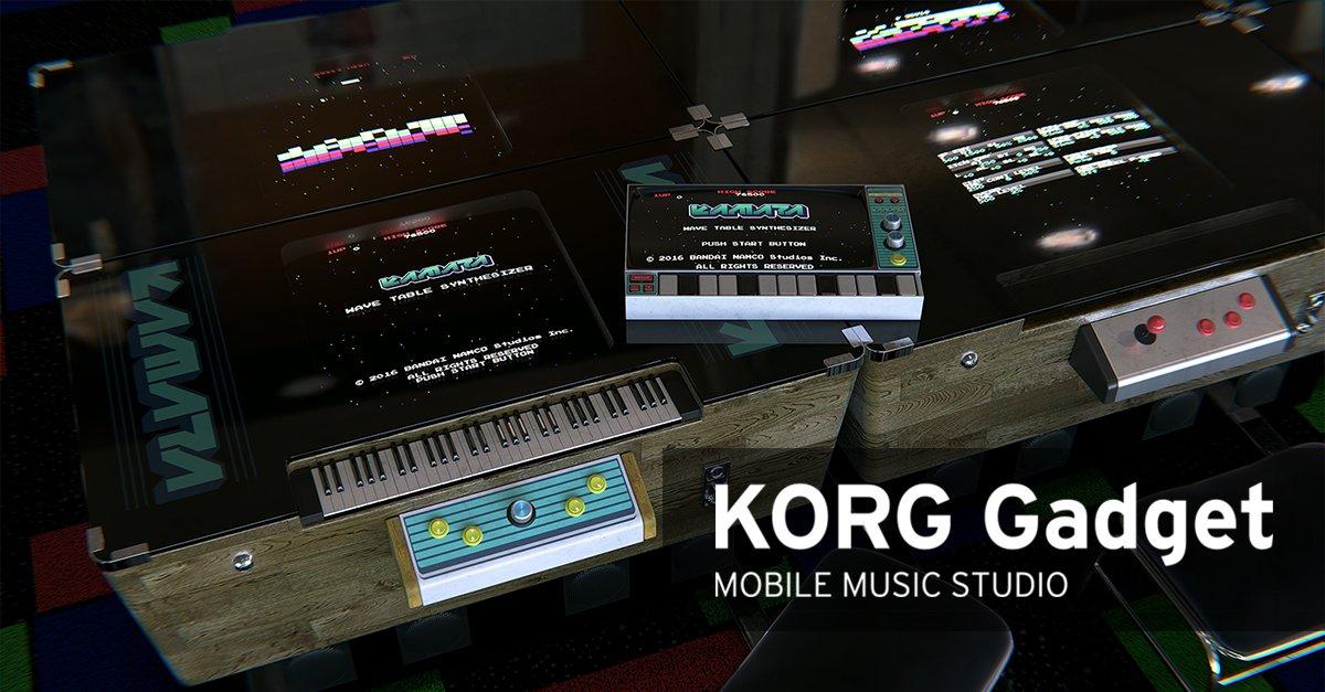 KORG Gadget が バンダイナムコスタジオ と前代未聞のコラボ!3つの新ガジェットを搭載したバージョン2.5登場。期間限定セールも実施! https://t.co/jSppBdpi3P https://t.co/l6N61aKGCt