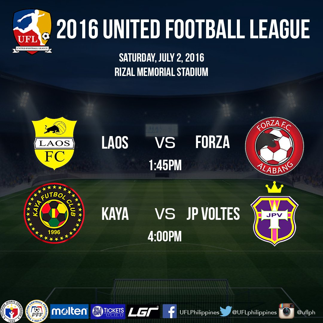 Weekend #UFL2016 action beckons. Catch the games live at Rizal Memorial Stadium! https://t.co/8V2iQUhYzl