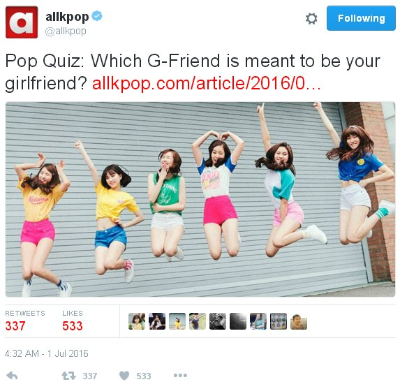 ALLKPOP QUIZ]Which G-Friend Member is meant to be your