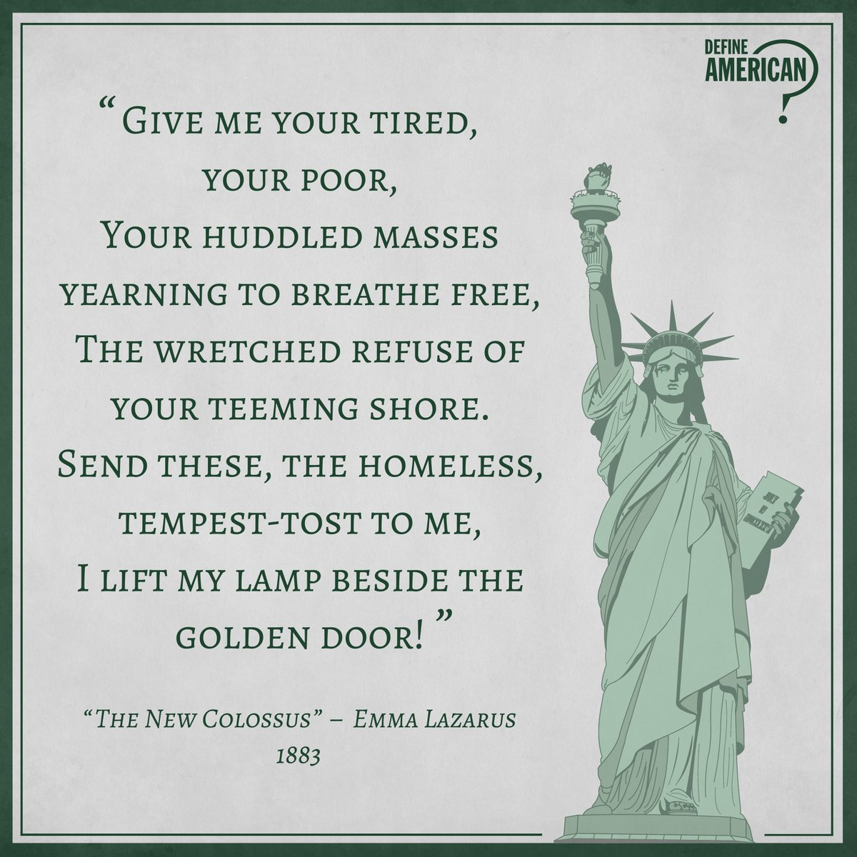 The New Colossus by Emma Lazarus