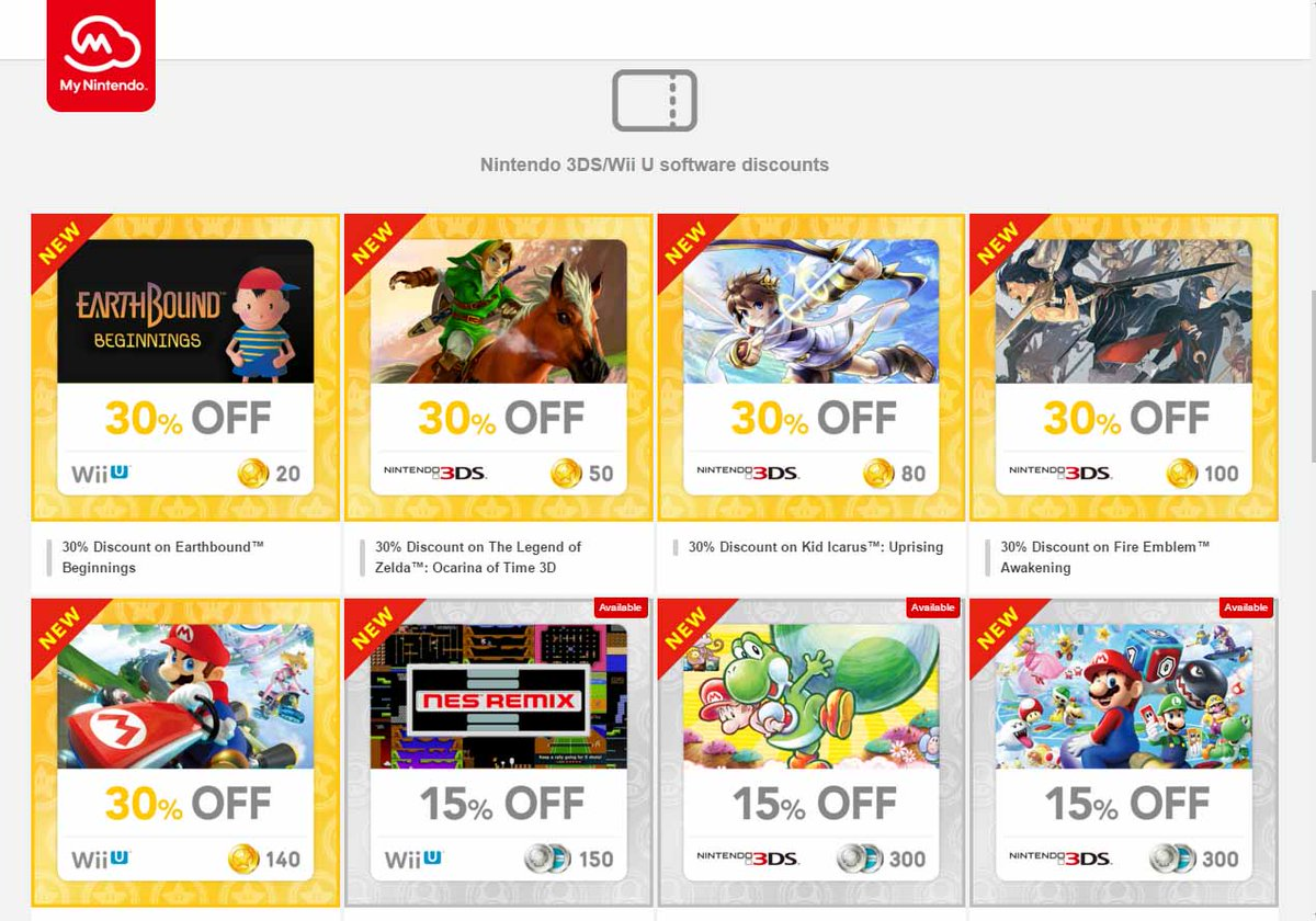 My Nintendo - New rewards available for North America | GoNintendo