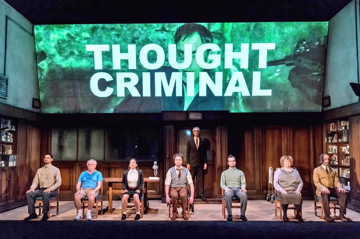 """★★★★ """"brilliantly chilling adaptation... Alarmingly relevant. Iconic and anxious theatre"""" @The_Upcoming"""