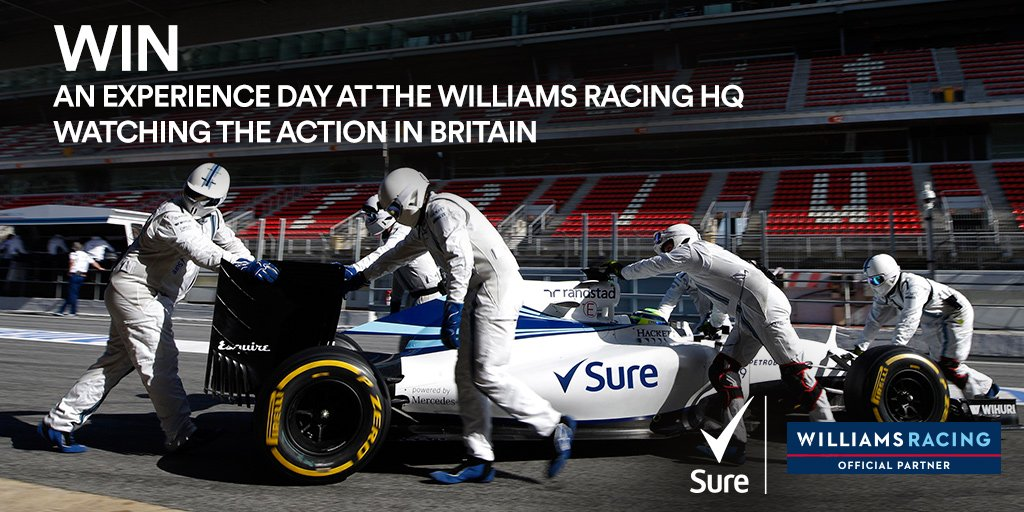 Follow & RT for your chance to win an experience day at @WilliamsRacing  HQ watching the #BritishGP . #MakeYourMove