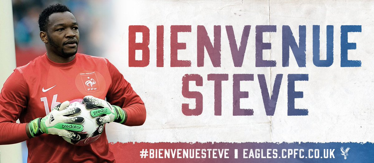 BREAKING: #CPFC are delighted to announce the signing of @SteveMandanda on a three year deal! #BienvenueSteve