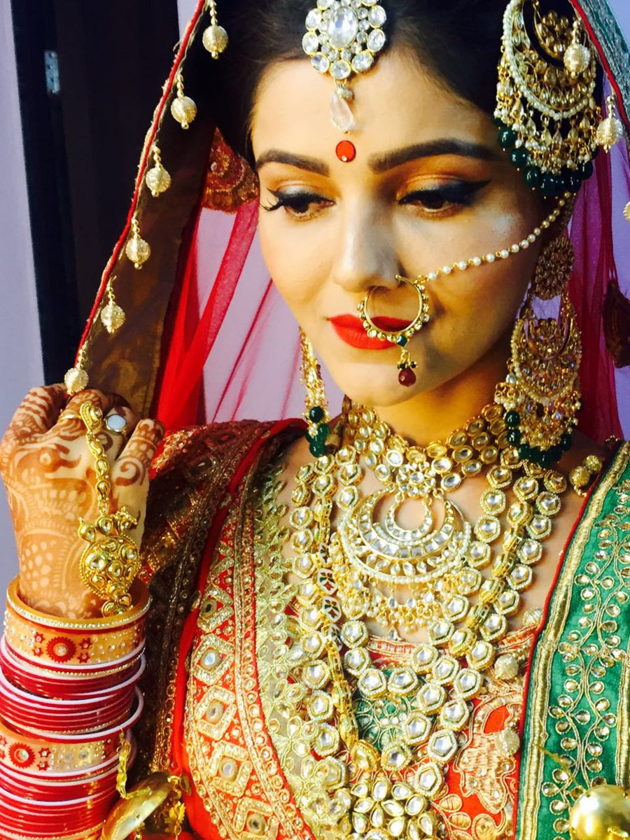 Rubina in bridal dress pics